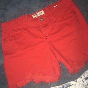 lei Shorts - 2 Pair Short Shorts 14 Distressed Never Worn
